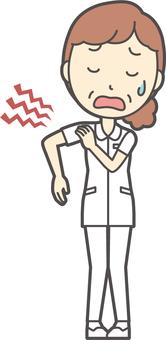 中年女護士白大衣-192-全身