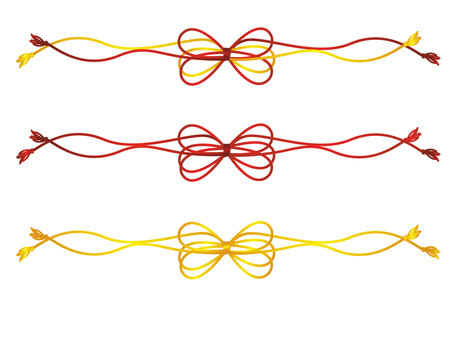 Japanese style decorative string line