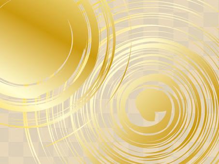 Japanese style background (Gold 06)