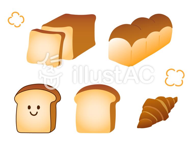パンのセットのイラスト