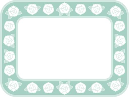 Pastel color rose frame (green)