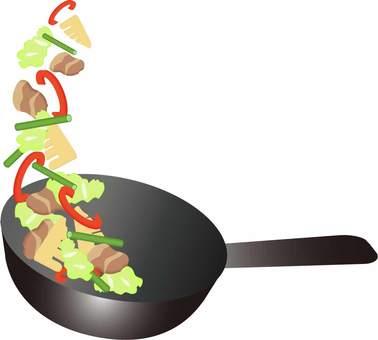 Stir-fry meat