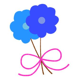 블루 꽃다발