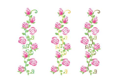 Rose flower line