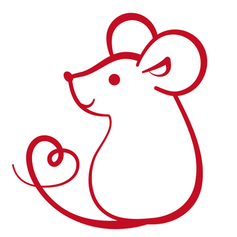 Simple childhood mouse red