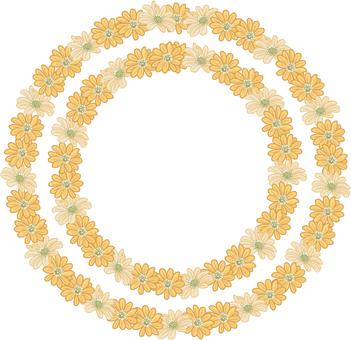 Flower circle (yellow)