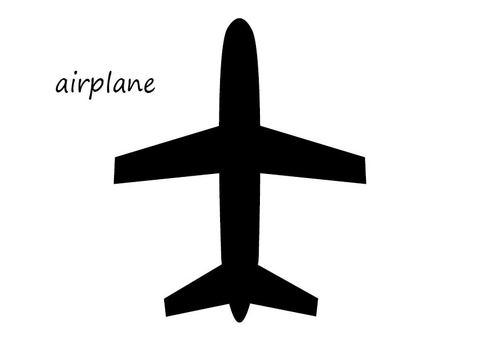 飛行機シルエット