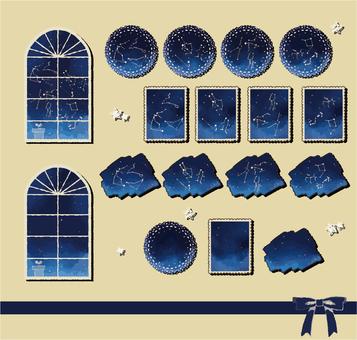 Starry sky sticker