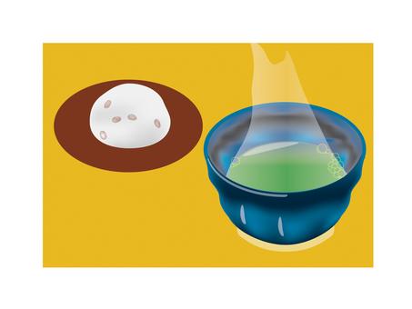 Green tea & bean Daifuku