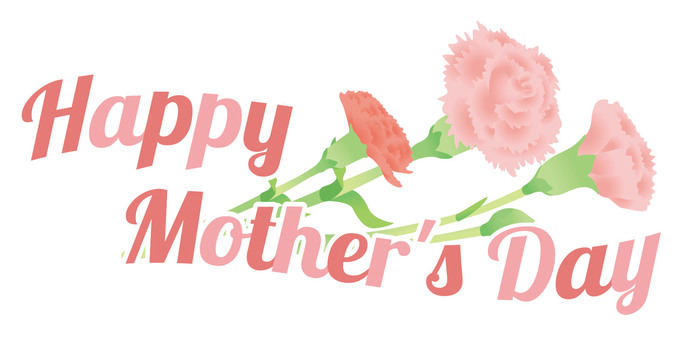 Mother's Day Title Carnation Hand-painted Style