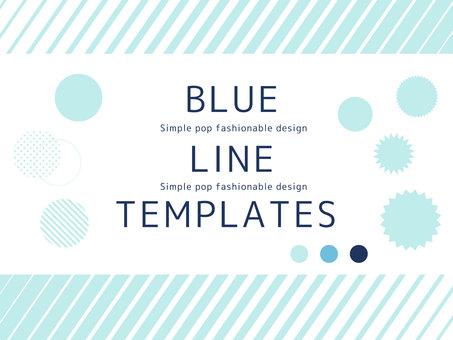 Blue frame simple frame <01>