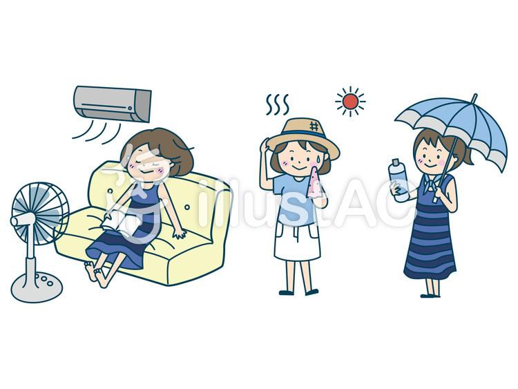 熱中症対策のイラスト