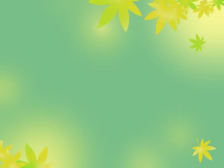 단풍 배경 화면 녹색