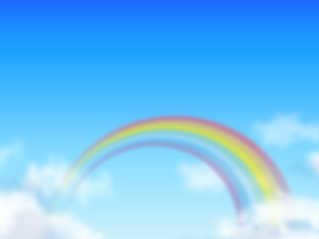 Clouds and blue sky and rainbow 02
