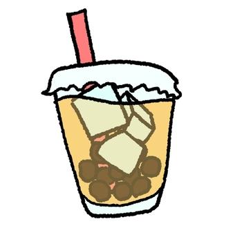Loose fluffy tapioca milk tea