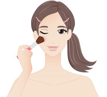 Woman, make-up, teak