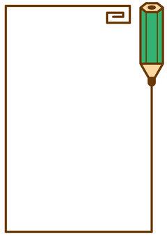 鉛筆フレームタテ4c