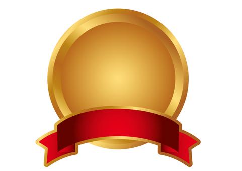 Emblem metal ribbon