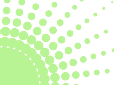 放射状ドット背景グリーン
