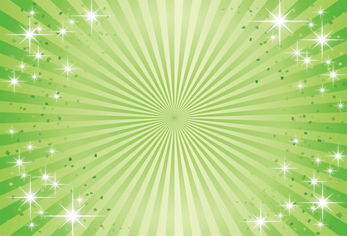 Fresh green - Radial gradation background image of early summer