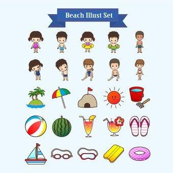 Illustration of beach