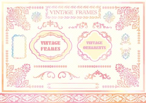 Stencil-like frame set 26