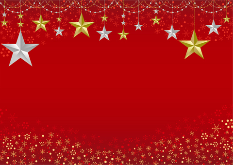 Star ornament frame red background