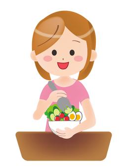 Vegetarian Eating People Vegetarian
