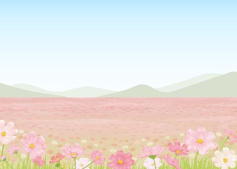 Cosmos background illustration