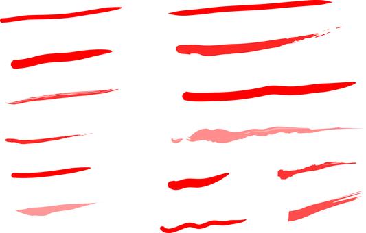 Underline Various red underline