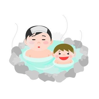 Parent and child hot spring