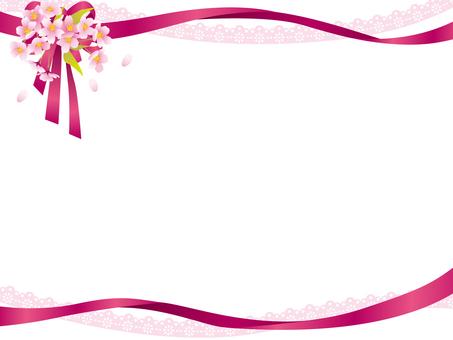 Sakura ribbon frame