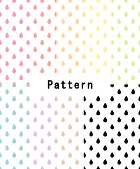 ドロップパターン(手描き風)9色