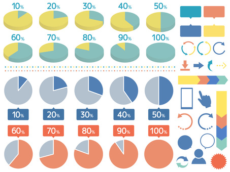 Infographic set such as pie chart