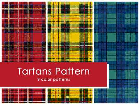 Tartans pattern set