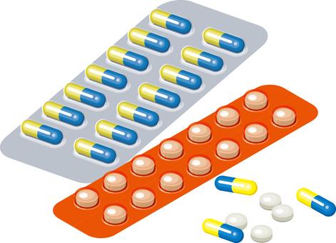 Medicine capsule tablets