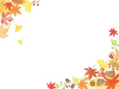 나뭇잎과 열매 프레임