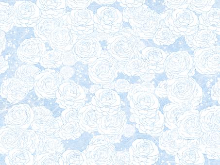 Japanese flower blue