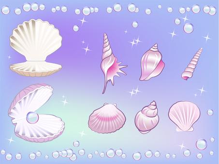 Shell pearl set