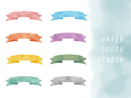 Ribbon watercolor frame