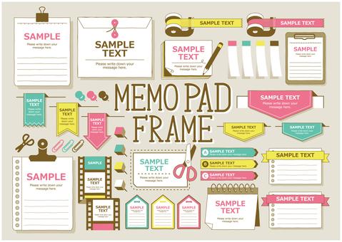 Memo pad frame 01