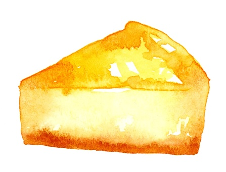 Cheese cake watercolor