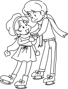 Winter date (line drawing)