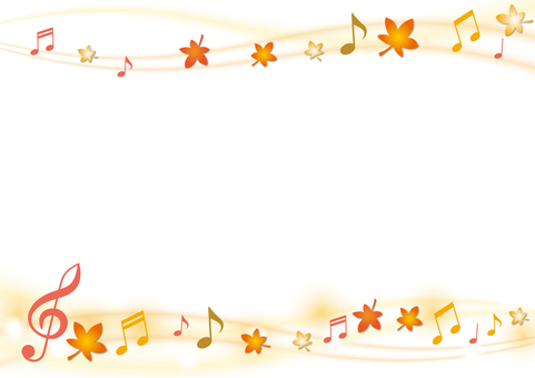 Decoration material 068 score and foliage frame