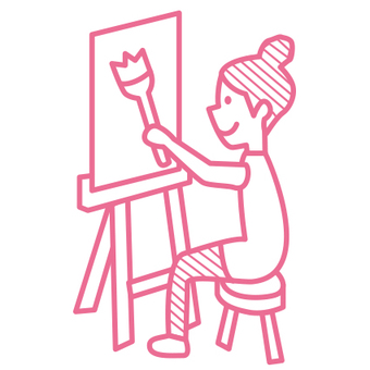 Sketch girls pink