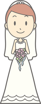 Bride dress - front 2 - whole body