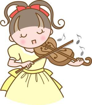 바이올린을 연주 어린이