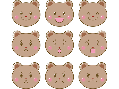 熊/臉上的插圖