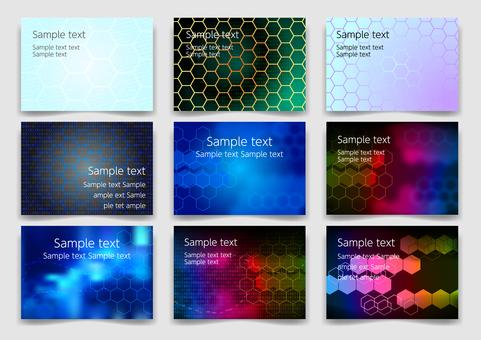 カラフルなネットワーク抽象背景素材セット