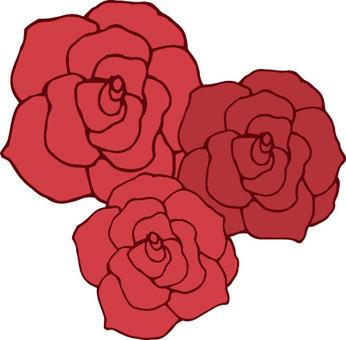 Flower (3 roses / red)